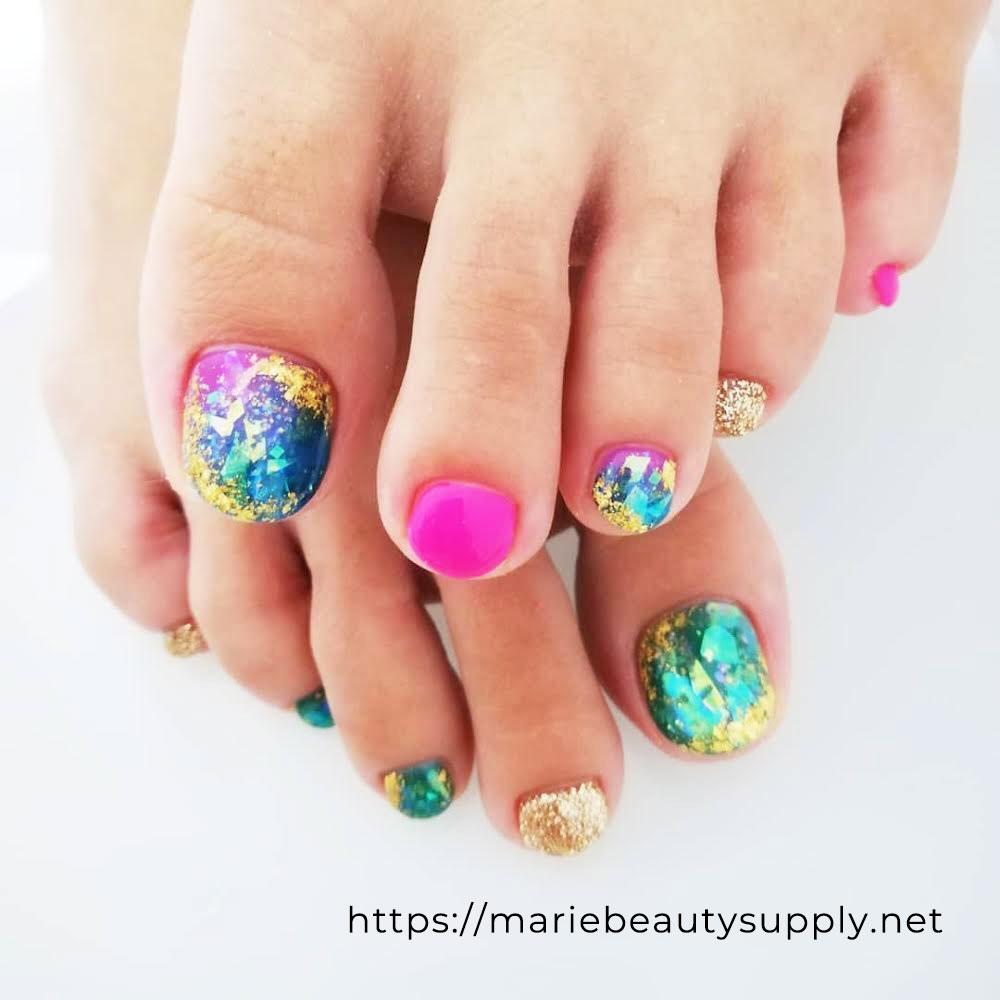 Sheer color Deep Sea Nails.