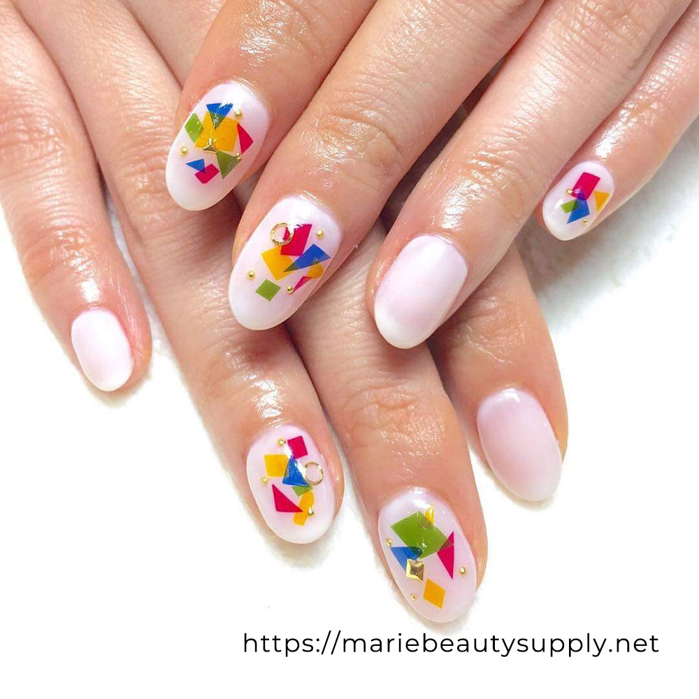 Colorful POP Design Nails.