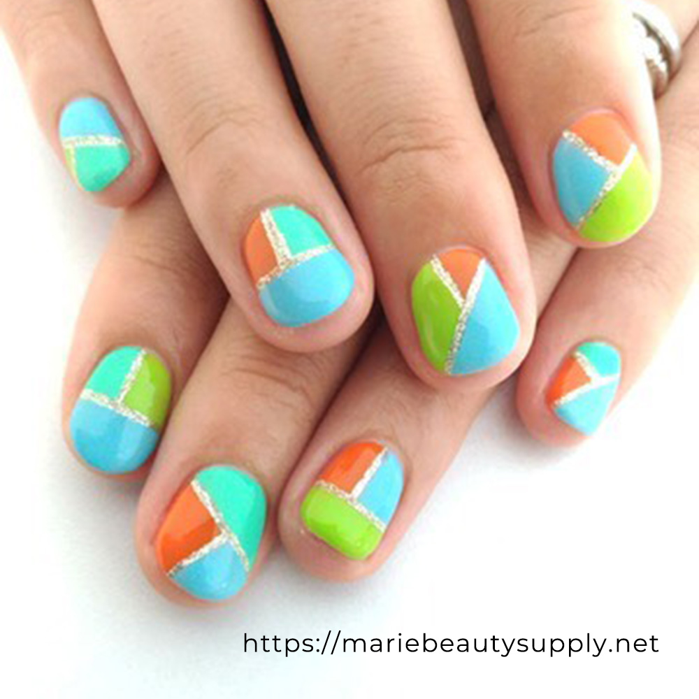 Brightly Colored Nails.