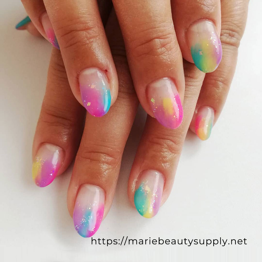 Colorful Gradient Nails.