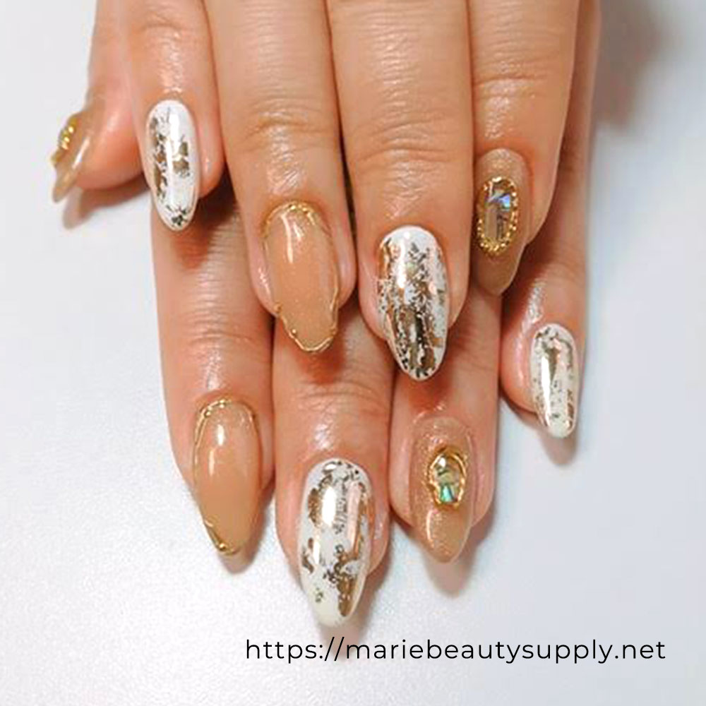 Elegant Nails with Foil.