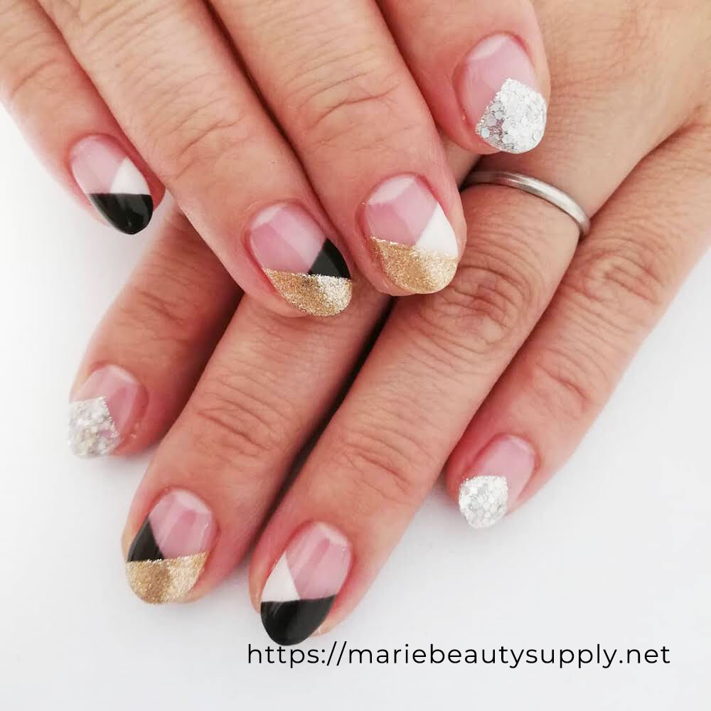 Unique French Nails.