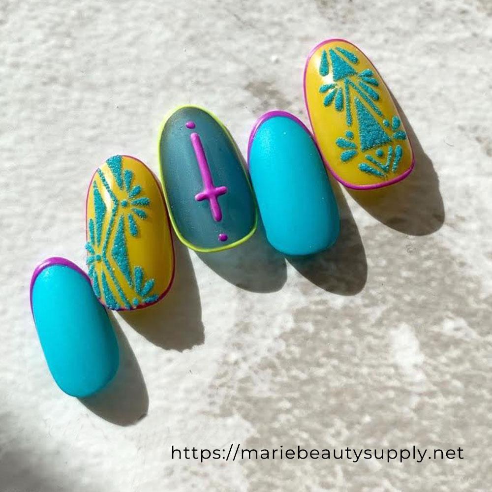 Ethnic Nails Designs.