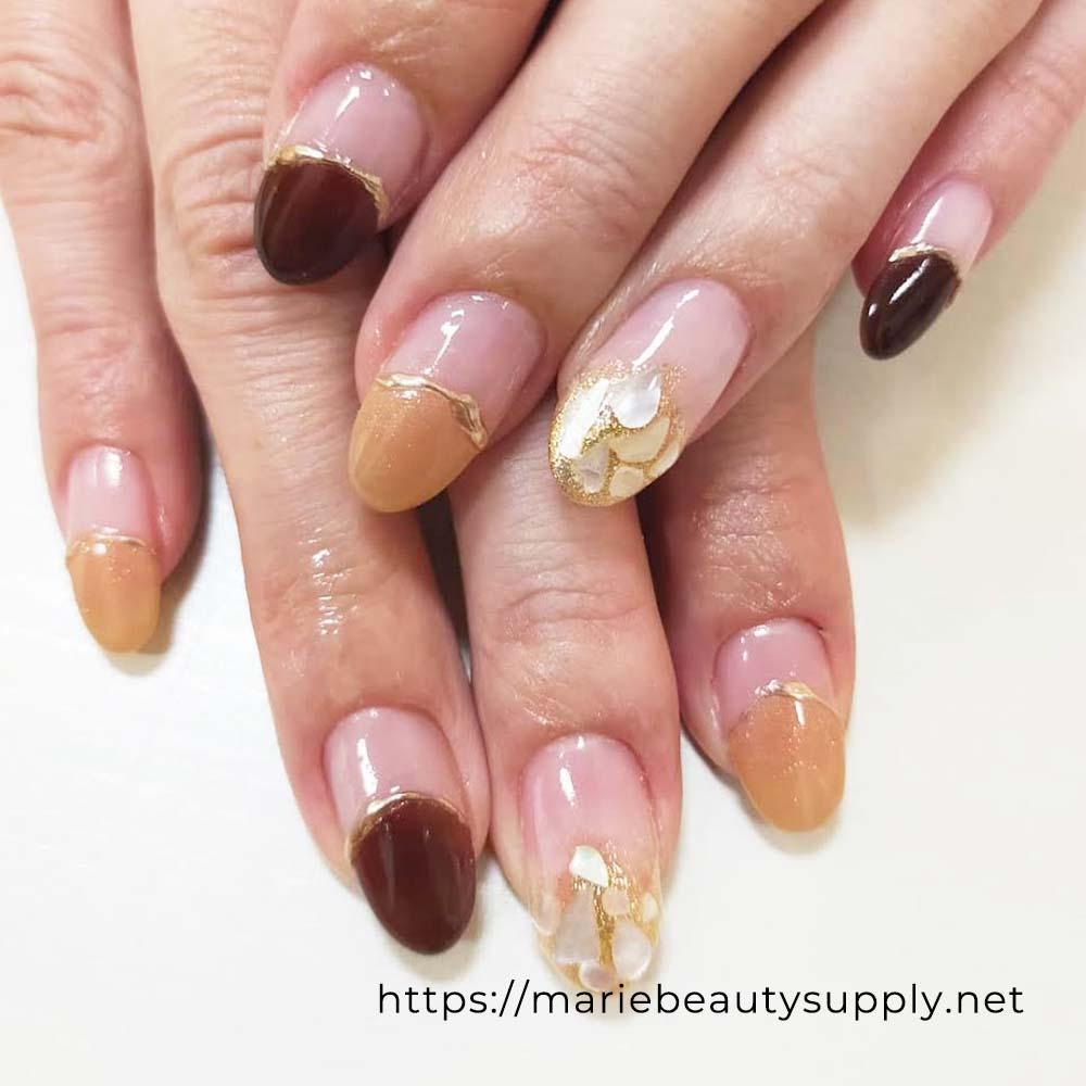Unique French Nail Design.