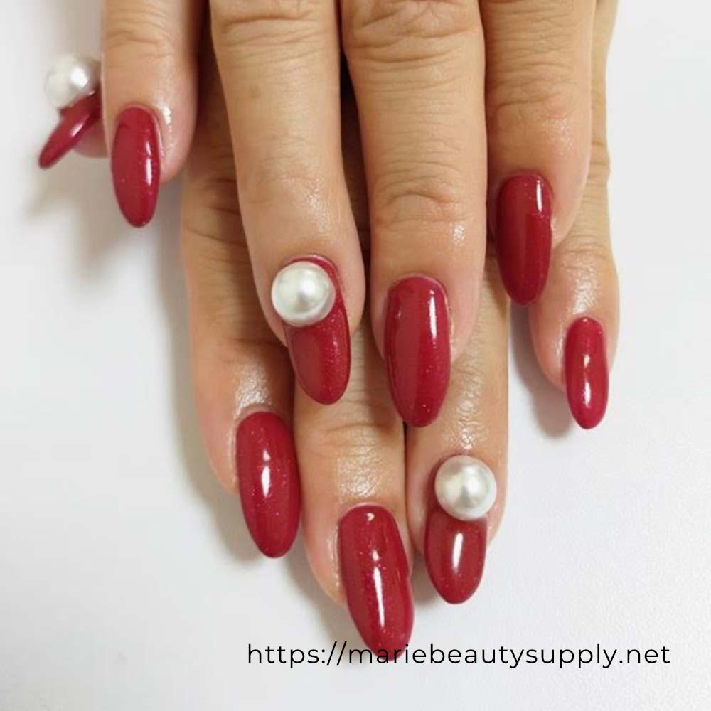 Classy Red Nails.