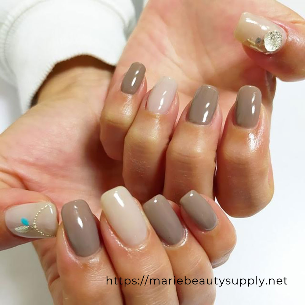 Simple Nails with an Accent.