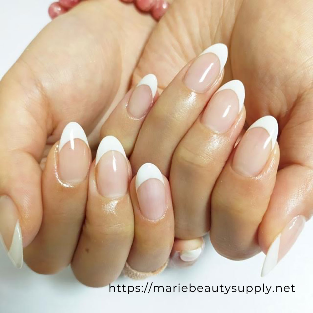 Simple French Nails.