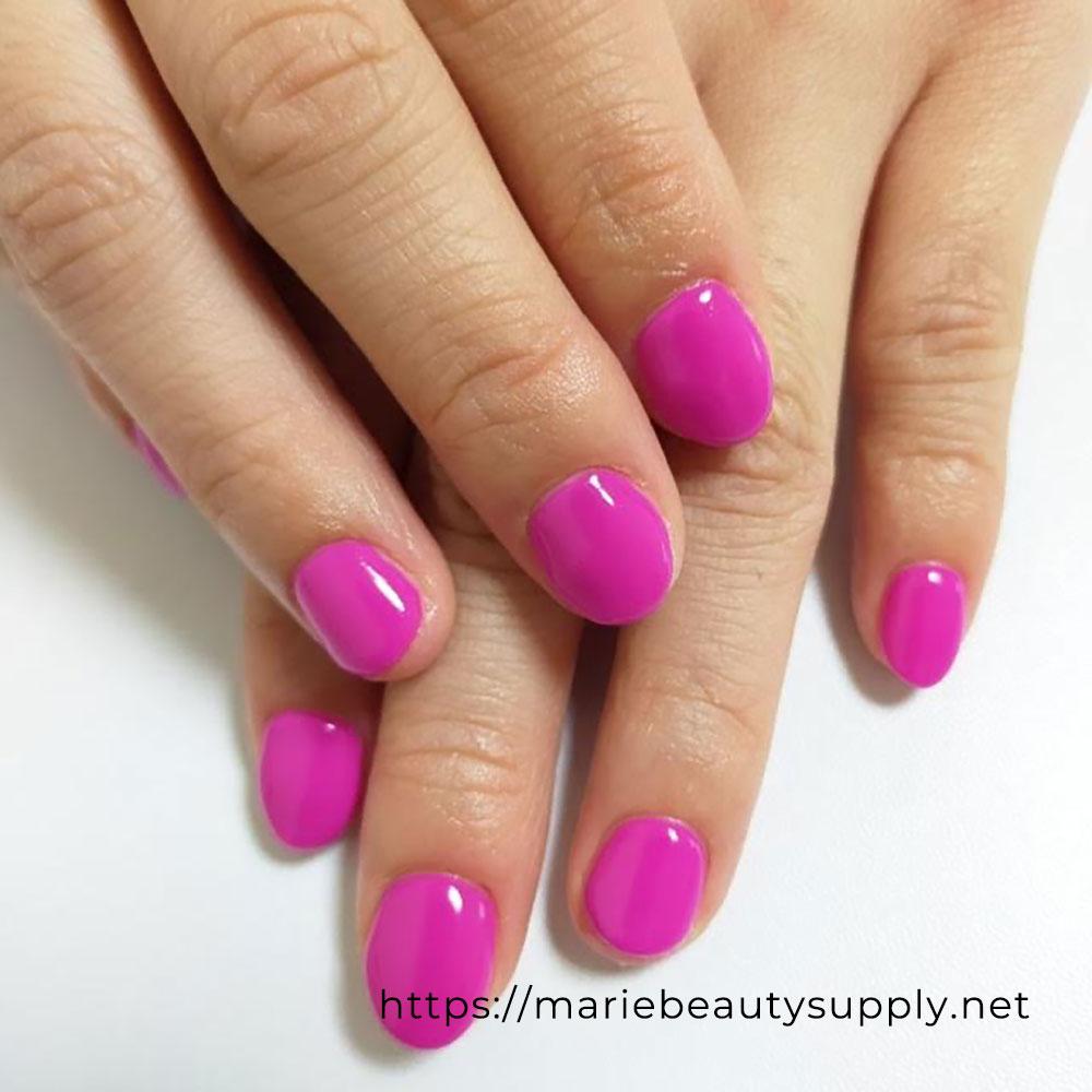 Vivid Awakening Purple One Color Nail.