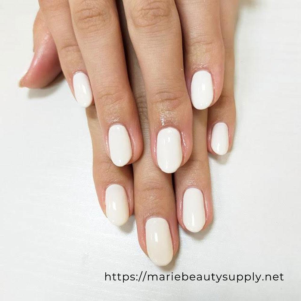 Simple Ivory Manicure.