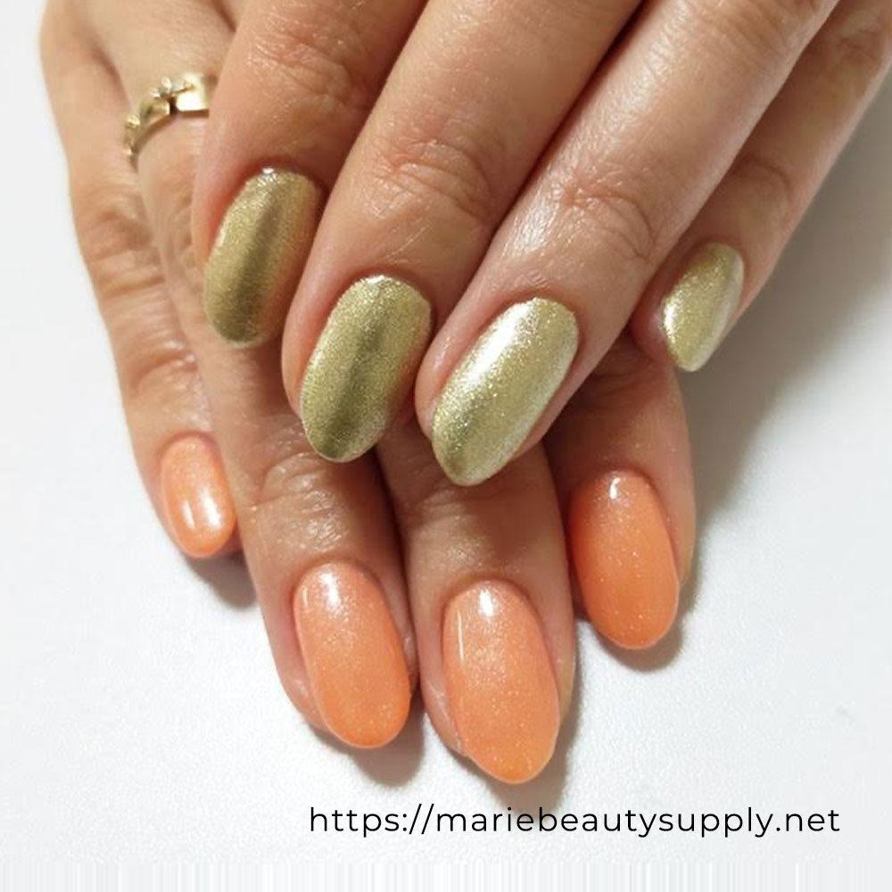 Glitter Asymmetric Nails.