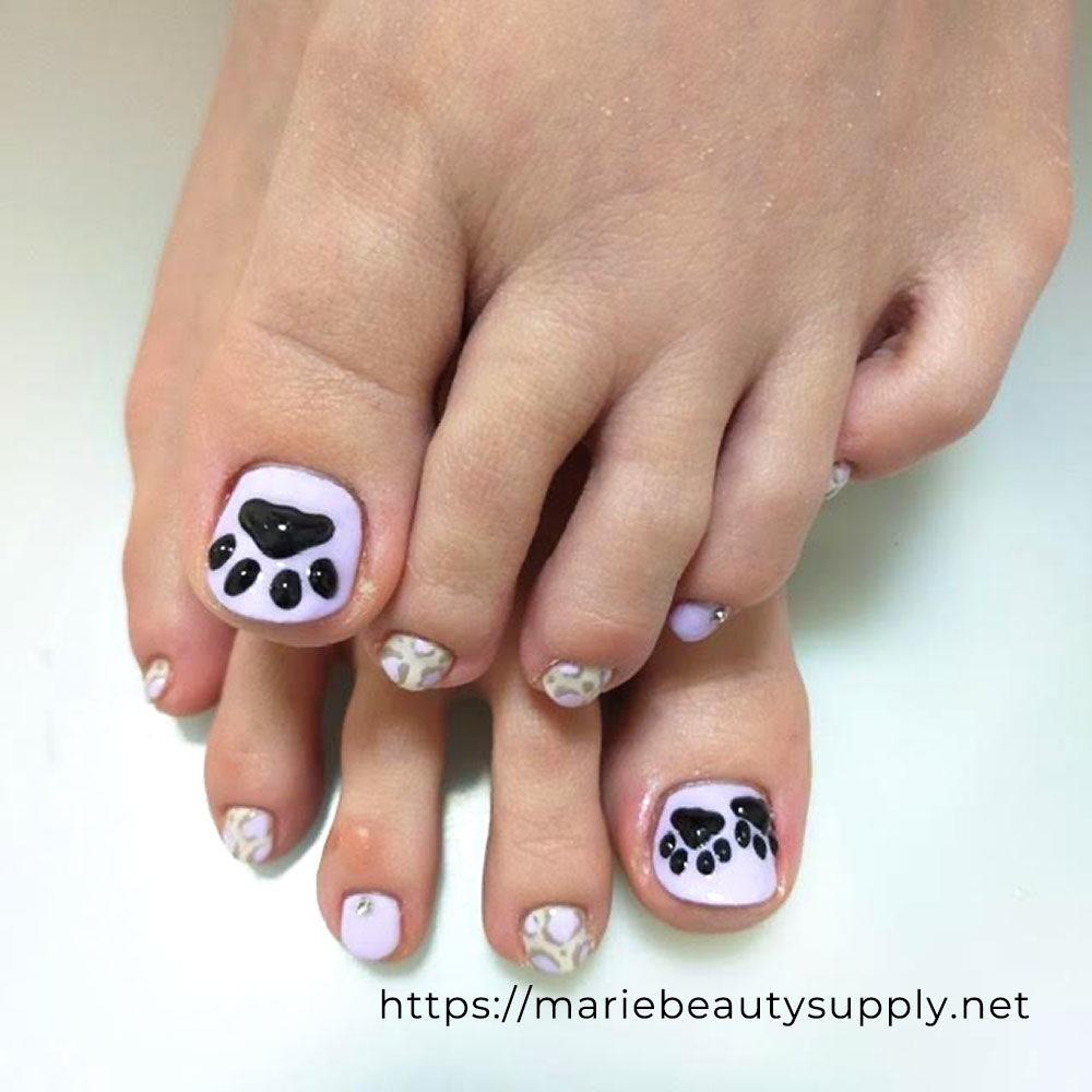 Cat Footprints and Leopard Print Nails.