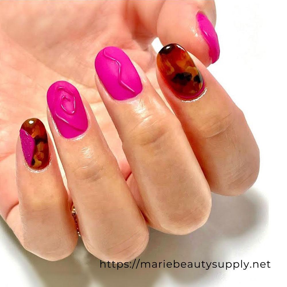 Beautiful Pink Nail Art.